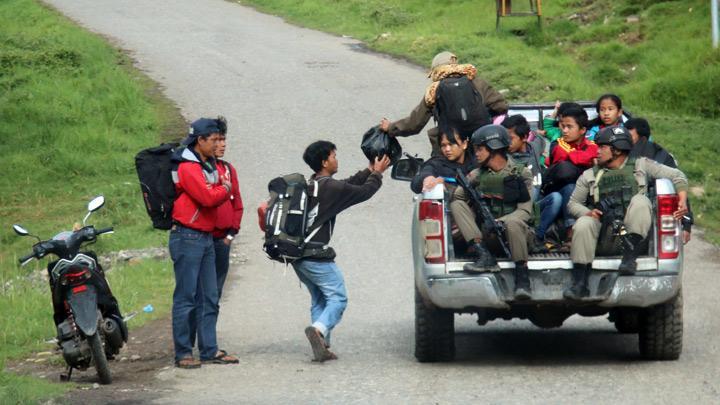 Ilaga residents flee